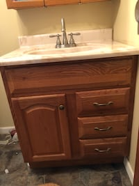 Bathroom sink and cabinet  Max Meadows, 24360