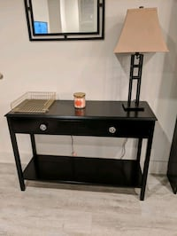 Entryway table - black