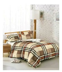 brown, beige, and orange plaid bed sheet and pillows Faridabad, 121003