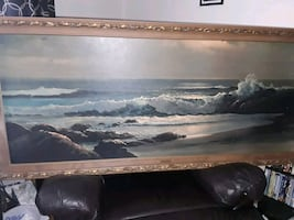 "Print ""GOLDEN SURF"" by Robert Wood  PRICE REDUCED"