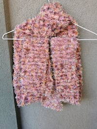 Long fluffy multicolor scarf