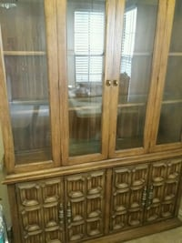 brown wooden framed glass display cabinet Pompano Beach, 33073