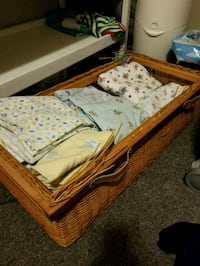 brown wooden bed frame with mattress Quinte West, K8V 6B3