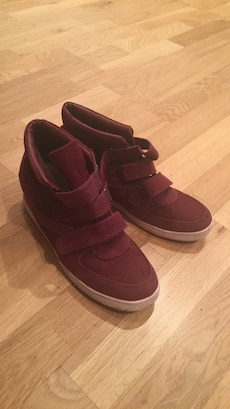 Par maroon velcro stropp high top sneakers 37