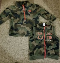 2cute Army vest& fleecy Army long sleeve Lake Country, V4V 2A2