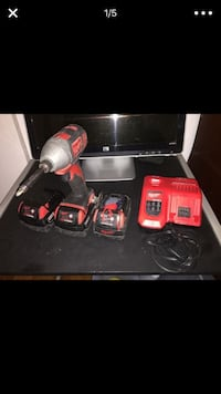 Milwaukee impact drill set.