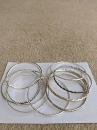 New Set of 9 Bangle Bracelets Frederick, 21702