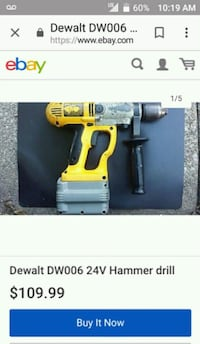 yellow and black DeWalt cordless drill