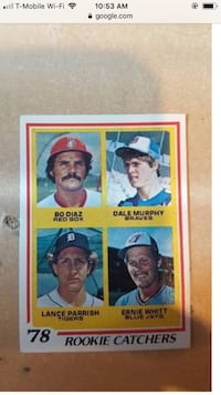 Dale Murphy 1978 rookie card showing him as a catcher. Spartanburg, 29303
