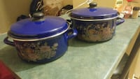 two blue and pink floral ceramic canisters Laval, H7N 6K5