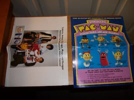 Original Inserts for the Mini Coleco Pac-Man Table Arcade Game