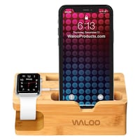 Apple Watch & iPhone Bamboo Charging Dock Toronto, M6N 4Z5