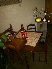 Wood table n chairs