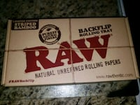 RAW BAMBOO BACKFLIP ROLLING TRAY STRIPED  Markham, L3S 1V9