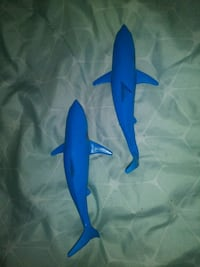 Two shark toys