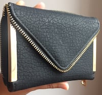 Black leather wristlet Montreal