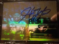 Hand signed autographed race card of Harry Gant 657 mi