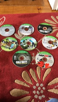 assorted Xbox 360 game discs Rothesay, E2H