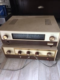 Vintage stereo tube amplifier Lafayette 236 with tube tuner radio