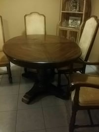 Table and four chair