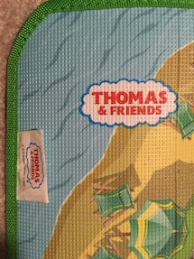 "63x48"" Thomas the Train plastic play mat. Edmond"