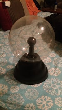 black and gray table lamp