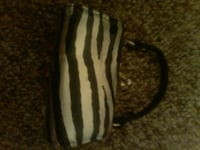 black and white zebra print handbag Shawano, 54166