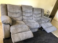 Brown fabric 3-seat recliner sofa Sacramento, 95842