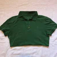 Mossimo Forest Green Polo Shirt - Juniors L Spring