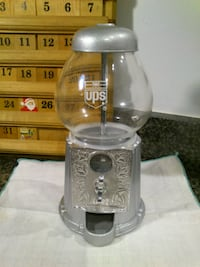"Small 9"" UPS Silver Gumball Machine"