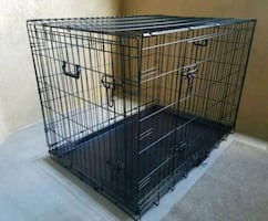 "NEW 36"" Large Dog Cage Puppy Training Crate Kennel House Bed Wire Tray"