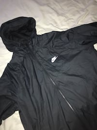 Nike windbreaker black mens large