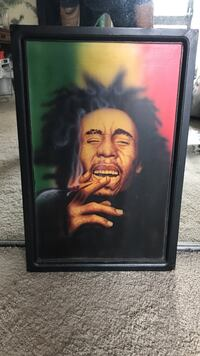 Bob Marley painting with black wooden frame Honolulu, 96814