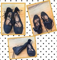 Cute black flat shoes size 7 - barely worn San Diego, 92107