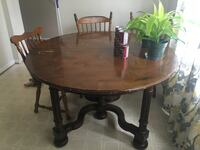 "57.2"" round dining room table + 5 chairs Burke, 22015"