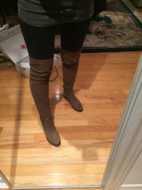 Aldo brown knee high boots size 6