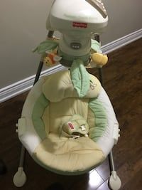 baby's white and green Fisher-Price cradle Whitchurch-Stouffville, L4A 0X3