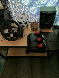 Modified g27 racing wheel with brass encoder