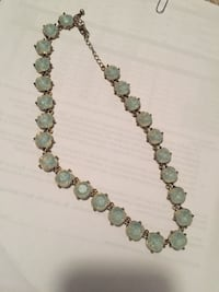 teal gem studded silver-colored necklace Great Falls, 59405