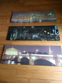 3 asstd pictures on canvas