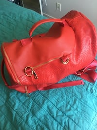 Red leather 2-way bag Toronto, M5A 0C5