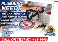 MASTER PLUMBER/LIC & INS/ FIX LEAKS, SEWER CLEANING, TOILETS Ashburn