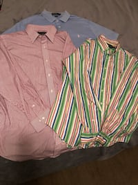 two pink and green dress shirts 460 mi