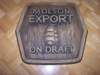 19 x 21 inch  MOLSON EXPORT ON DRAUGHT beer sign Vaughan