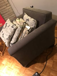 black fabric sofa with throw pillows Mississauga, L4W 2G2
