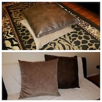 2 Big Leather & VelvetThrow Pillows Bowie, 20715