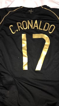 Black and yellow c. ronaldo 17 jersey Montréal, H4G 1G9
