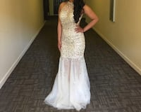 Women's white and gold bedazzled dress prom dress San Diego, 92145