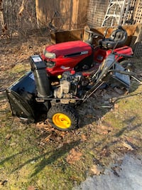 Ride on mower and snow blower