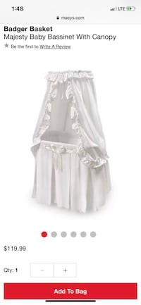 Baby bassinet & clothes